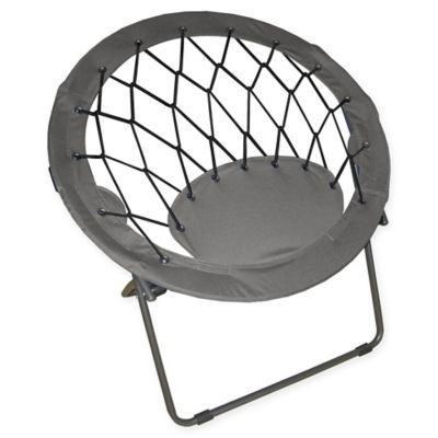 Impact® Webbed Bungee Chair in Grey | Bungee chair, Chair ...