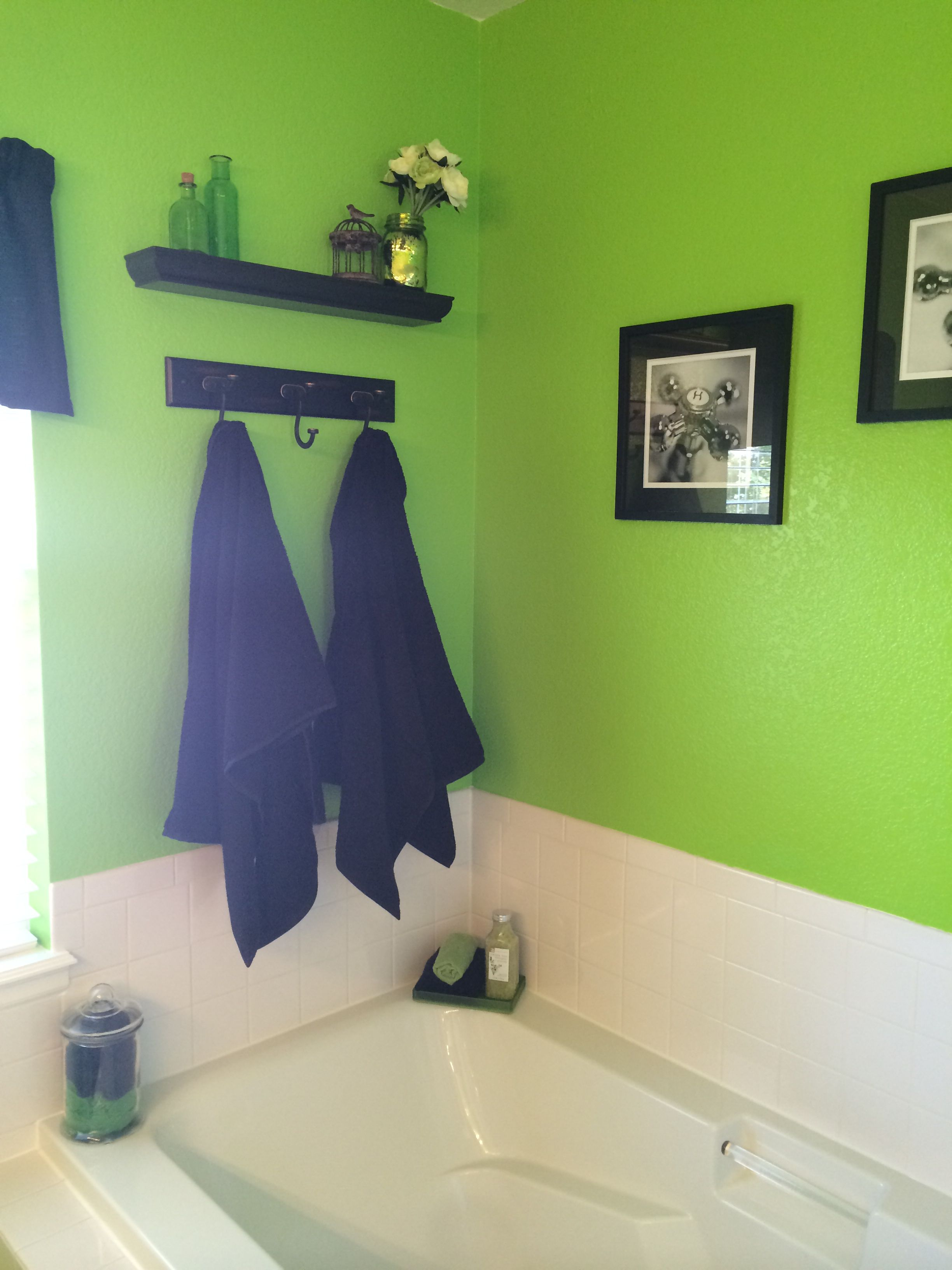 Beautiful Green and Black Bathroom