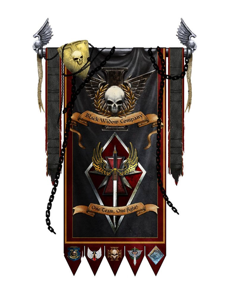 Space Wolves Banners Black Widow Com...