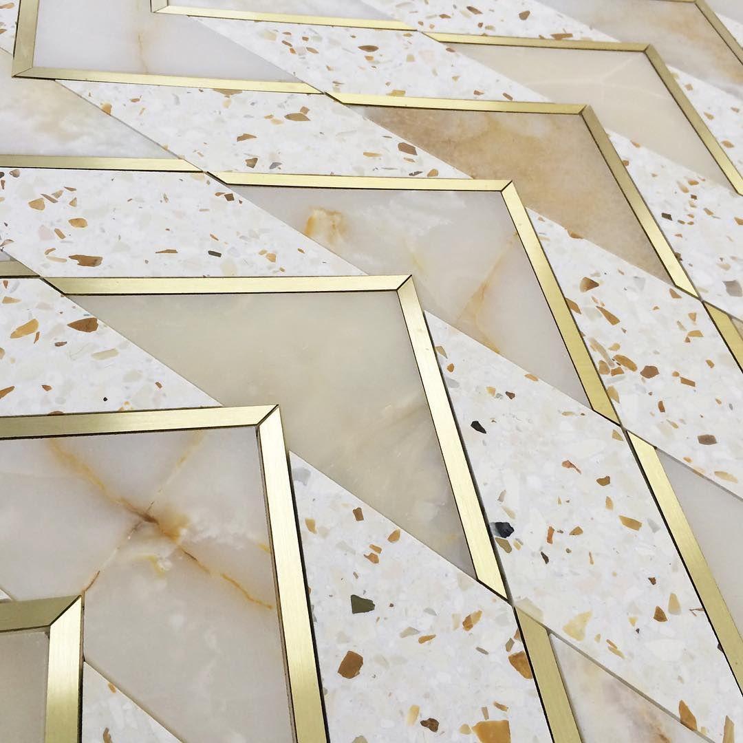 Terrazzo Floor Design Brass Terrazzo Terrazzodesign