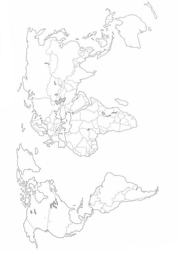 Kleurplaat Landkaarten Landkaart Wereld Spijker