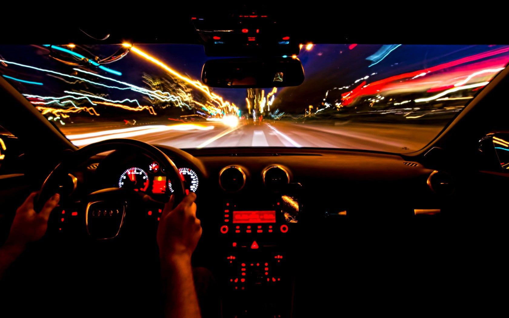 Audi A3 8p Timelapse Photo Of Car On Road Beauty Audi Exposure Night A3 8p Movement 720p Wallpaper Hd Time Lapse Photo Audi A3 Interior Car Photos