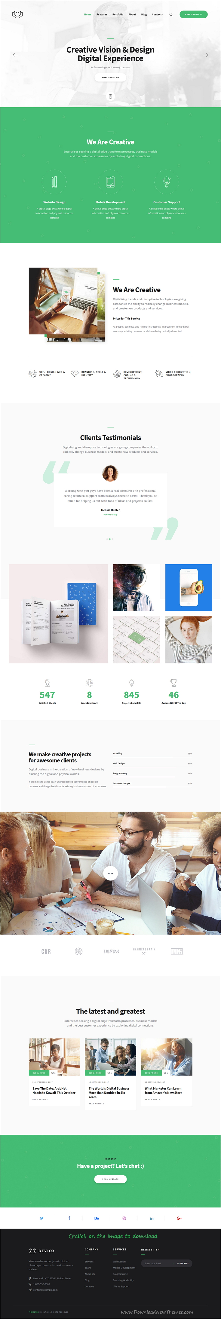 Deviox is clean and modern design 3in1 responsive WordPress theme