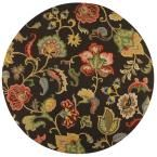 Chintz Charcoal (Grey) 7 ft. 9 in. x 7 ft. 9 in. Round Area Rug