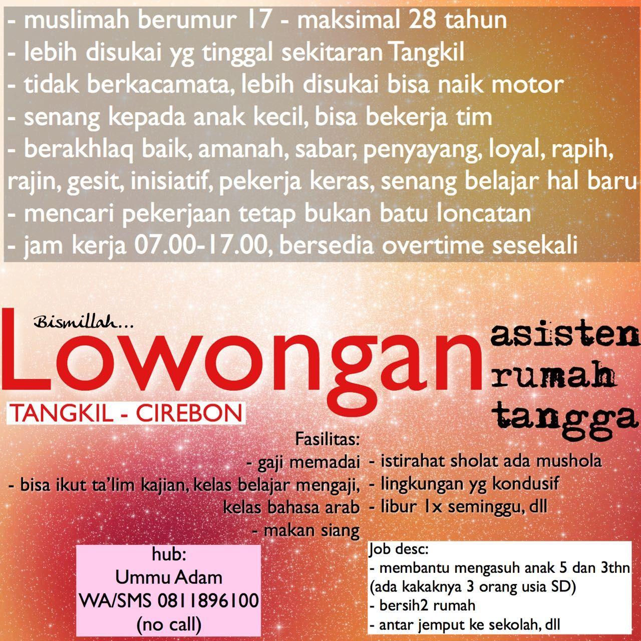 Lowongan Kerja Asisten Rumah Tangga Tangkil Cirebon Https