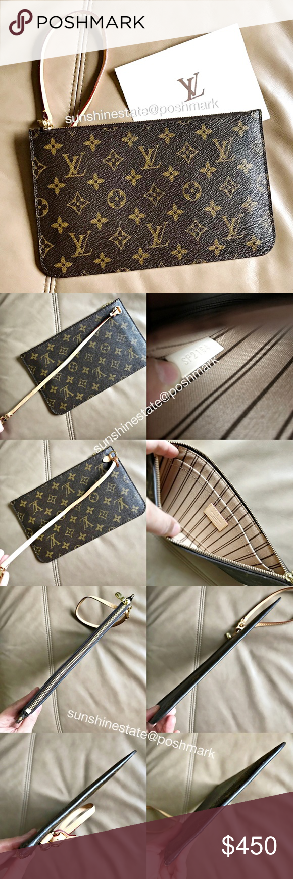 5f16b81db9d Louis Vuitton Neverfull Monogram Pochette France! Rare! Made in France!!  Authentic LV