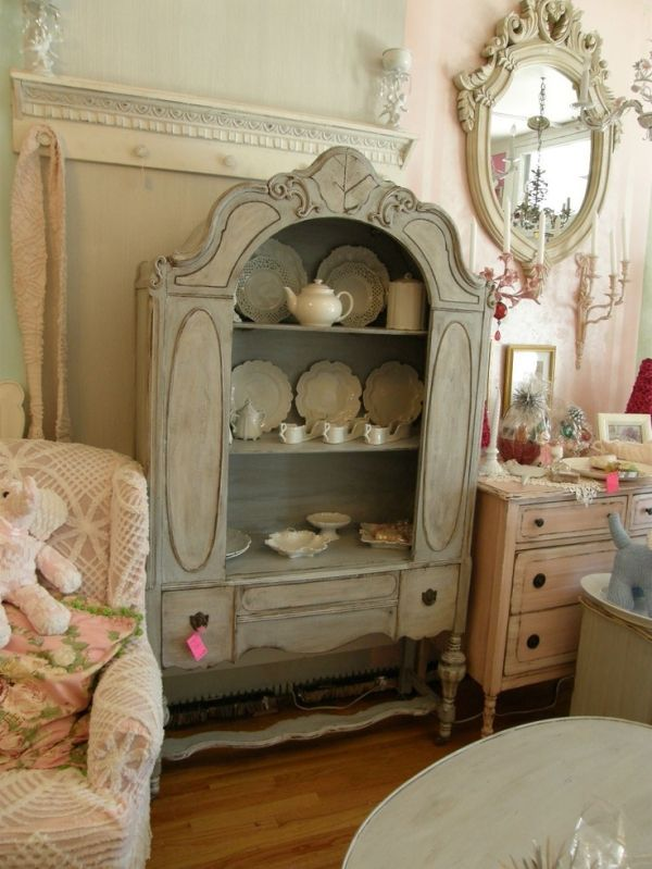 french blue antique china cabinet shabby chic cottage fabulous