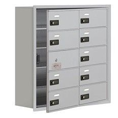5 Tier 2 Wide Recessed Mounted Locker