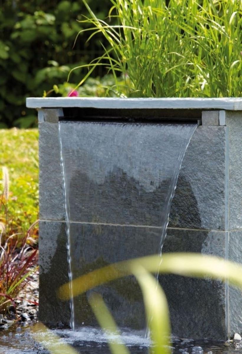 oase waterfall 60 wasserfall aus edelstahl garten garten teich und wasserfall. Black Bedroom Furniture Sets. Home Design Ideas