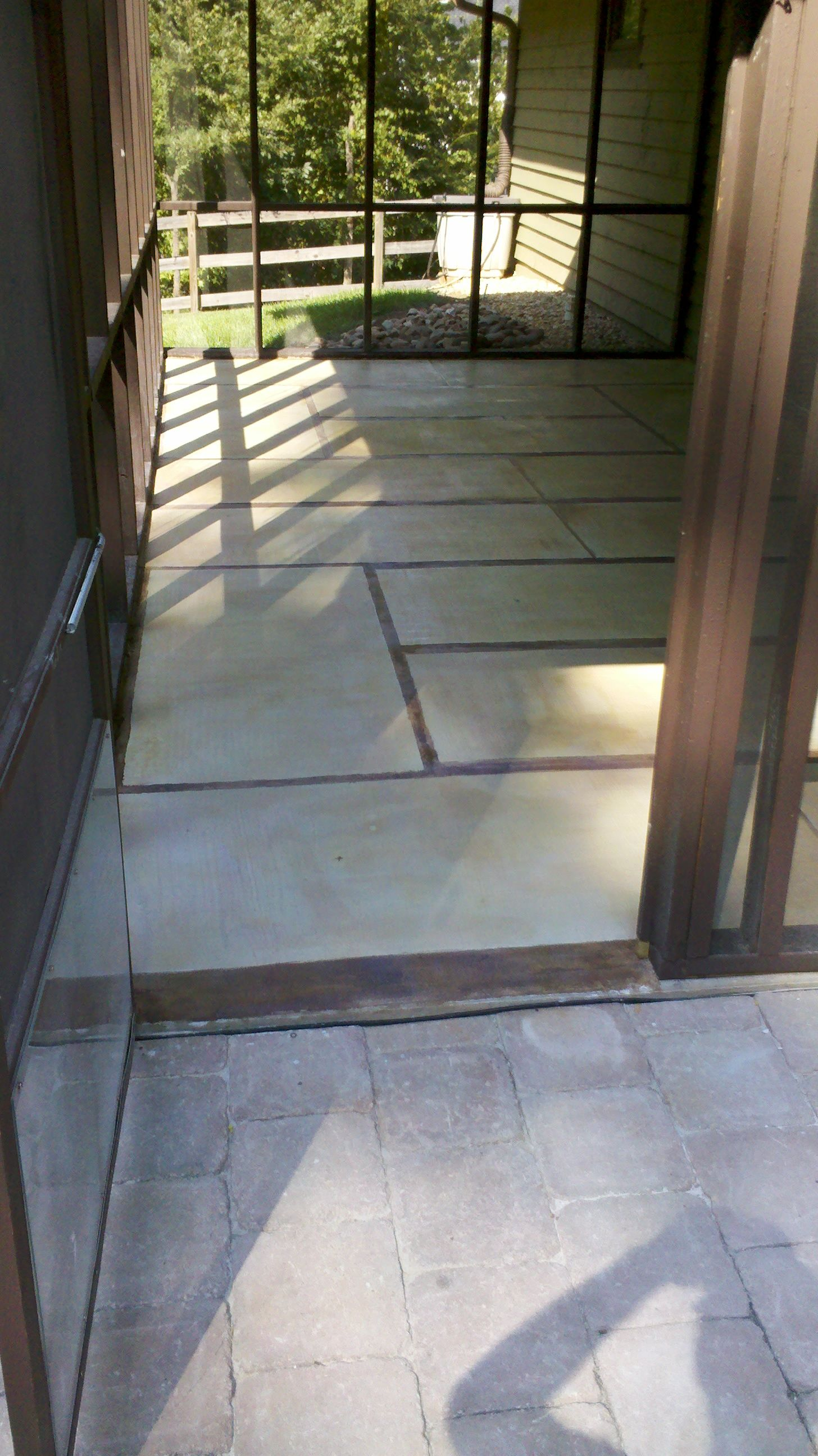 tatami cement overlay for covered patio built by me pinterest