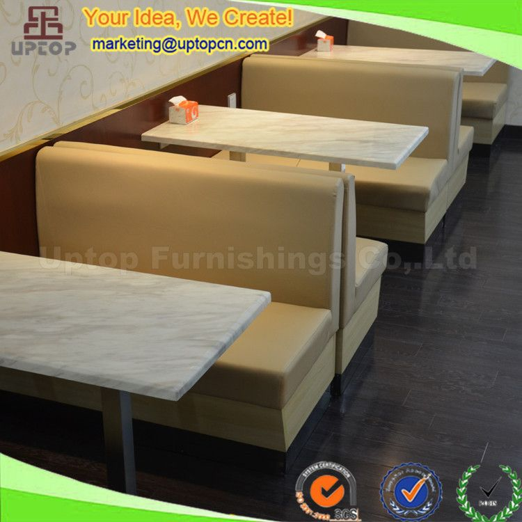 Modern Cafeteria Fast Food Seating Restaurant Sofa Booth Sp Cs318