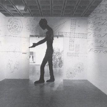 Jonathan Borofsky installation. Whitney Museum of American Art. New York City, 1981.