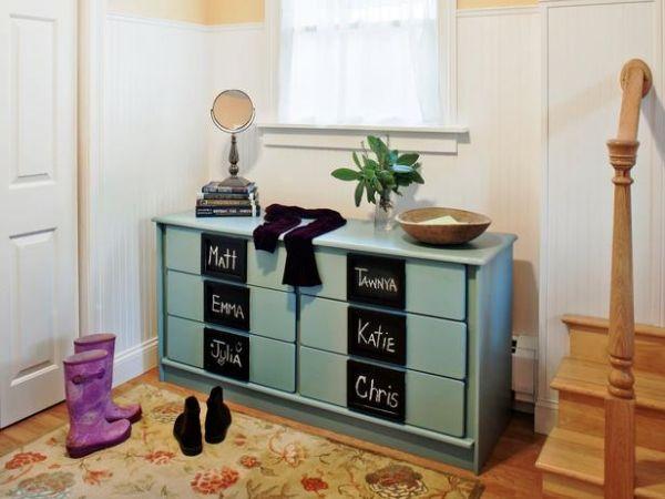 Alte Kommode Aufpeppen Ideen Flurmoebel Tafelfarbe Rund