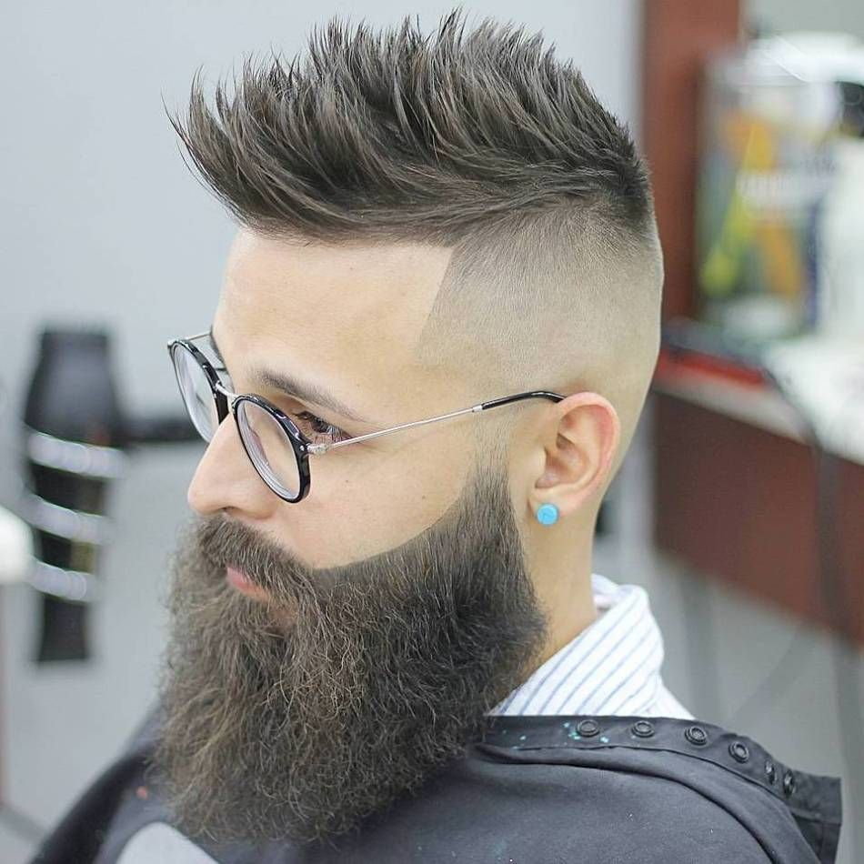 ultracool high fade haircuts for men in beard pinterest