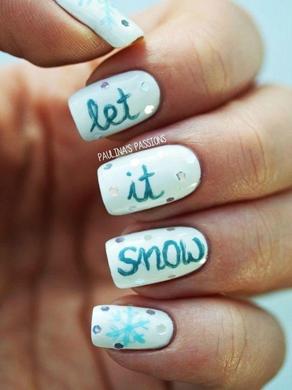 101 Simple Winter Nail Art Ideas For Short Nails Nail Ideas