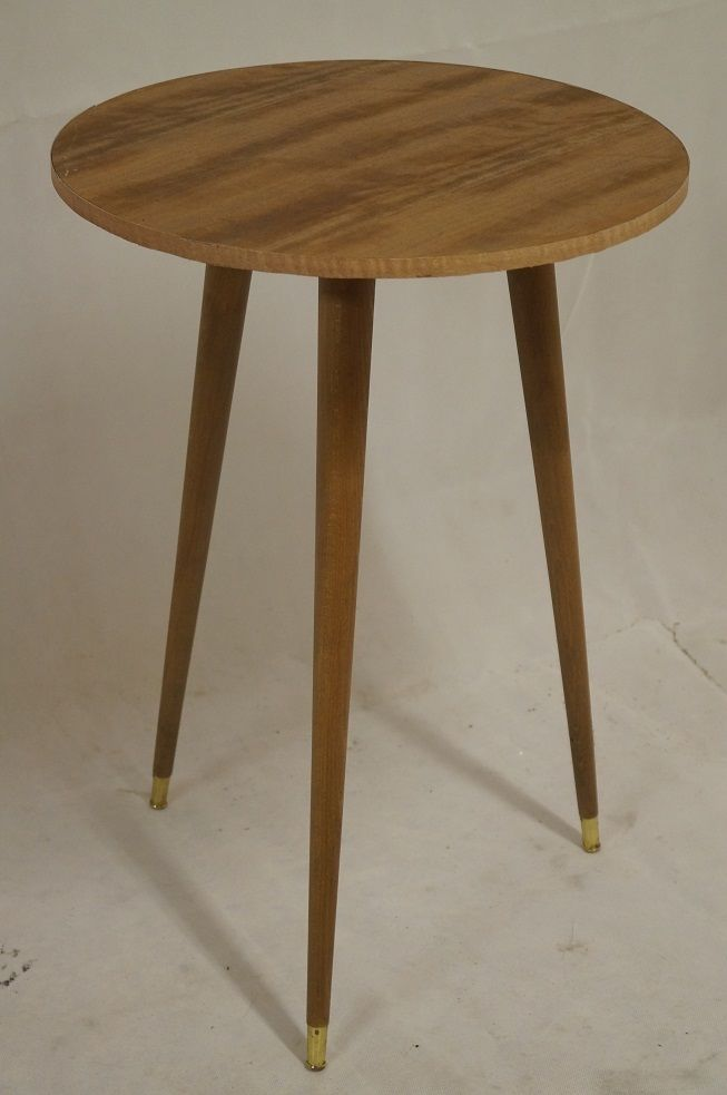 Table Guéridon Tripode Vintage 1960 Loft Design Moderniste ...
