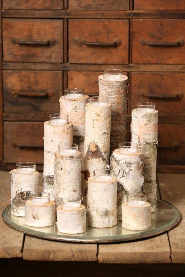 bouleau efficace tronc d coration selber machen pinterest birken deko birken und holzscheiben. Black Bedroom Furniture Sets. Home Design Ideas