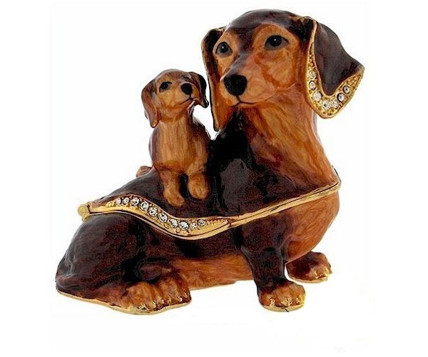 RBB1084 Mum dachshund trinket box Jewelry boxTrinket box Dog breeds