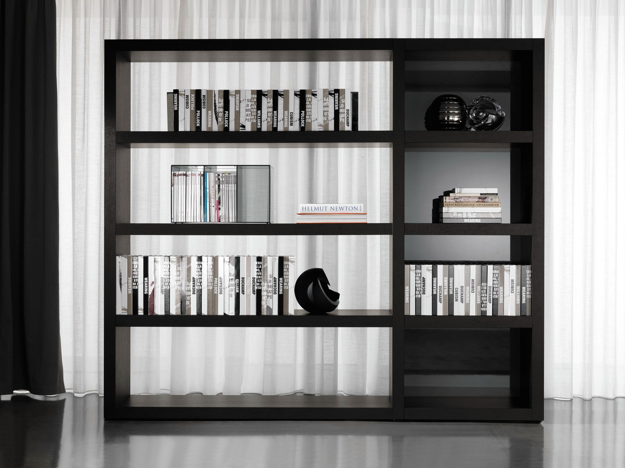 Unique White Wall Display Cabinet