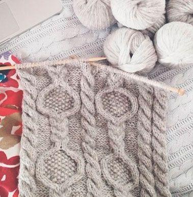 circle moss cable 1 | Knitting | Pinterest | Trenza, Tejido y Bebe