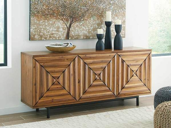 Elegant Tall Accent Cabinets with Doors