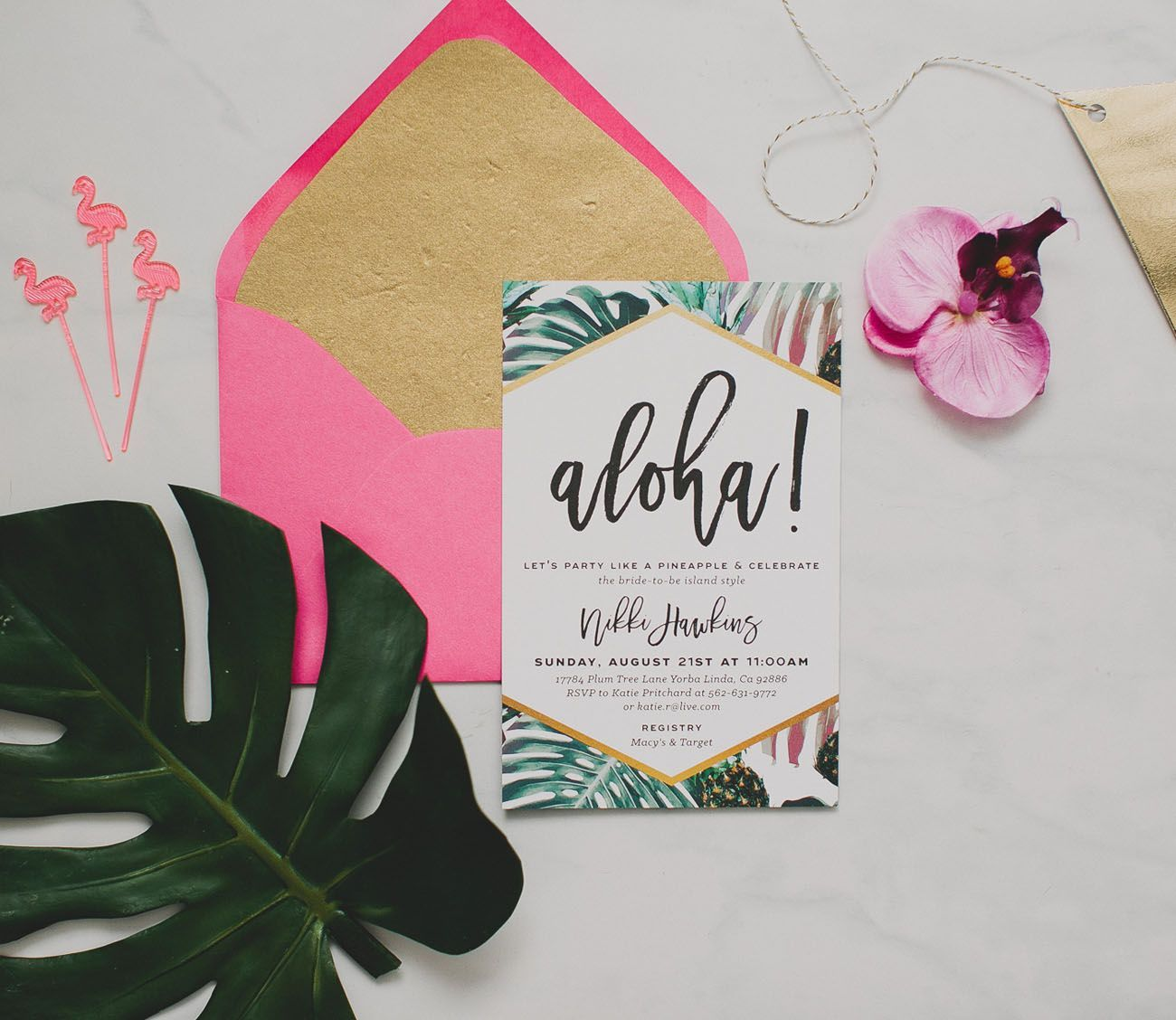 Tropical Inspired Bridal Shower Bridal Showers Weddings And