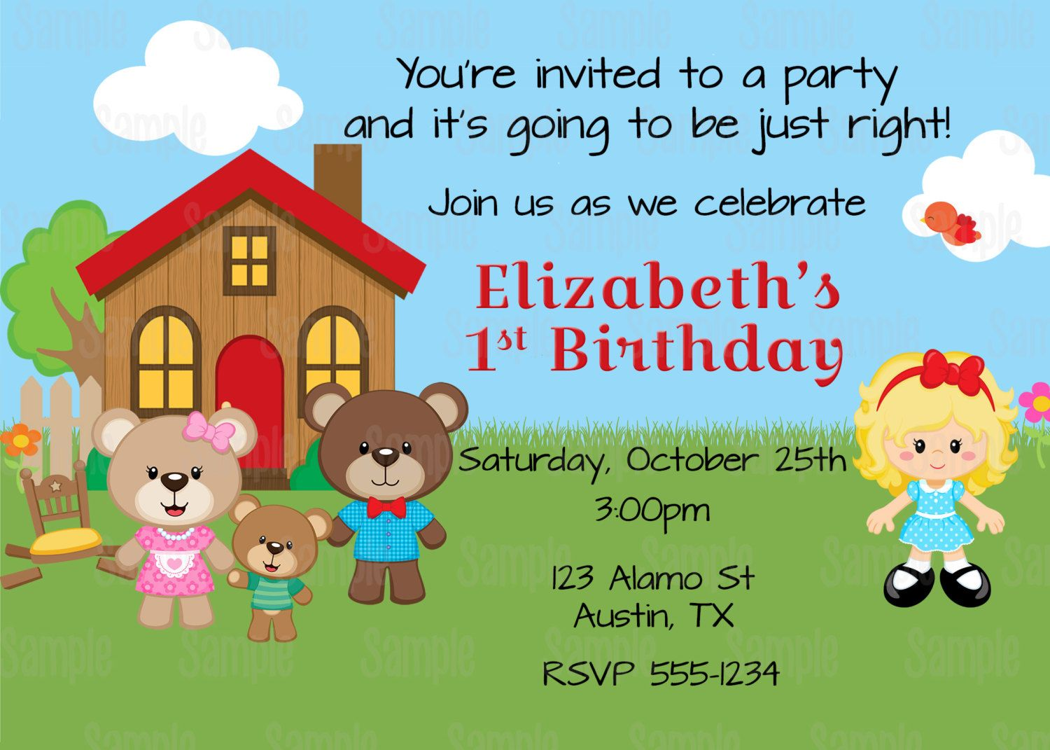 Old Fashioned Build A Bear Birthday Invitations Adornment