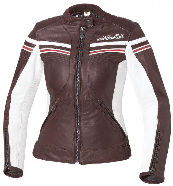 Veste de moto en cuir pour femme