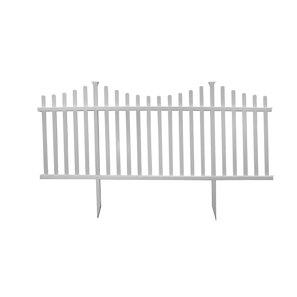 Zippity Outdoor Products 42 In H X 92 In W Manchester Semi Permanent Vinyl Fence Panel Kit 2 Pack Zp19018 The Home Depot In 2020 Vinyl Fence Panels Vinyl Fence Fence Panels