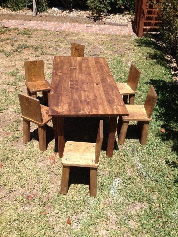 Peachy Kids Table And 6 Chairs Childrens Table And Chairs Pabps2019 Chair Design Images Pabps2019Com