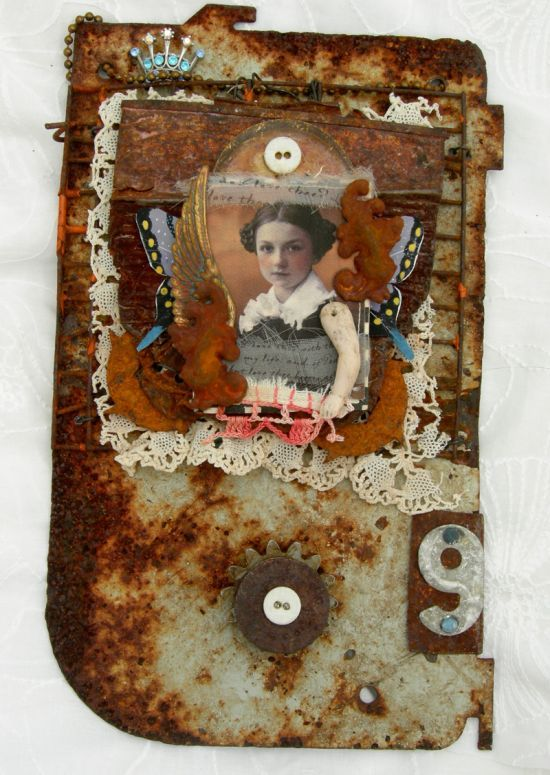 "theresa mARTin, ""Lady 9"", paperwhimsy face"