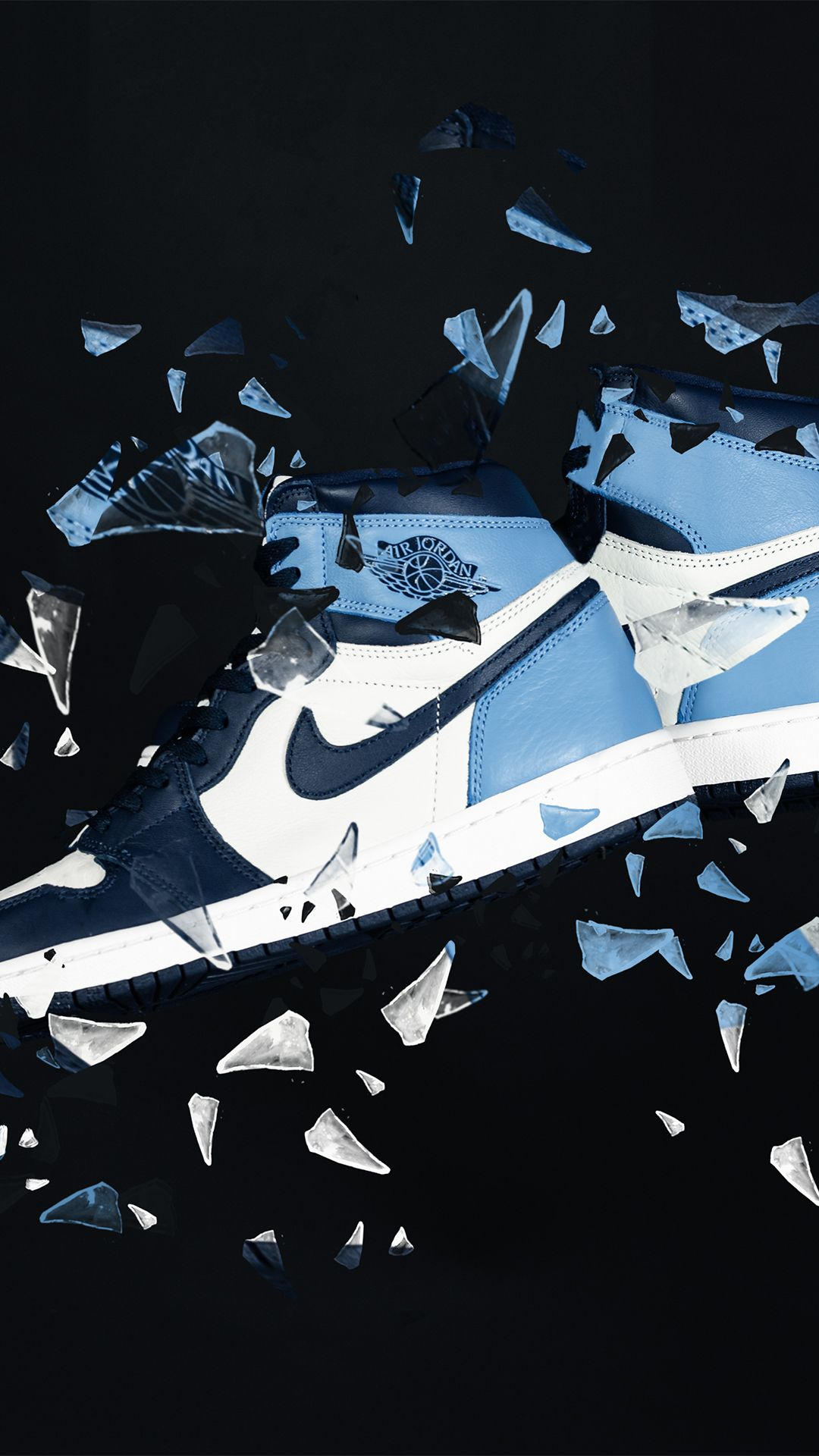 Nike Air Jordan 1 Retro High Og Unc Obsidian Jordan 1 Retro High Air Jordans Jordan Logo Wallpaper