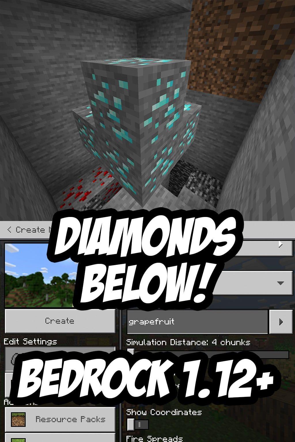 Minecraft PE 12.122 Diamond Seed - grapefruit (-209306991212
