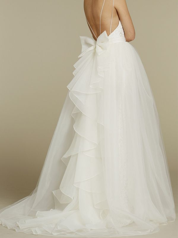 Monique Customized Lace And Organza Backless Wedding Dress TCCMD785