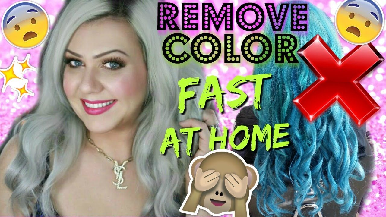 Remove any color from hair no bleach step by step tutorial