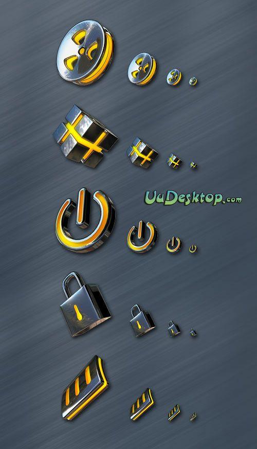 Metal style icon - free icons, desktop icons, mac icons