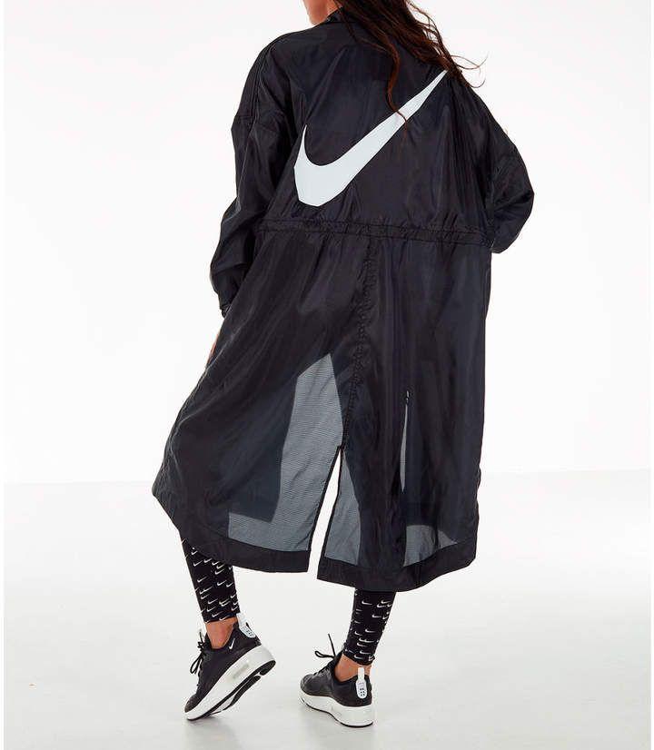 Nike Women's Sportswear Swoosh Long Windrunner Jacket in