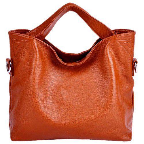 JiYe Womens 2P1006 1st Genuine Leather Leisure Shoulder Bag $68.00