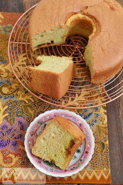 Bake for Happy Kids: Pandan Gula Melaka Chiffon Cake with pockets of Gu...