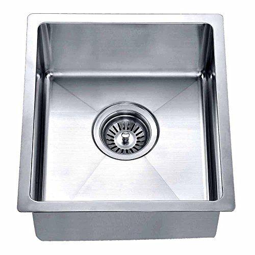 Dawn BS121307 Undermount Single Bowl Bar Sink, Polished Satin Dawn