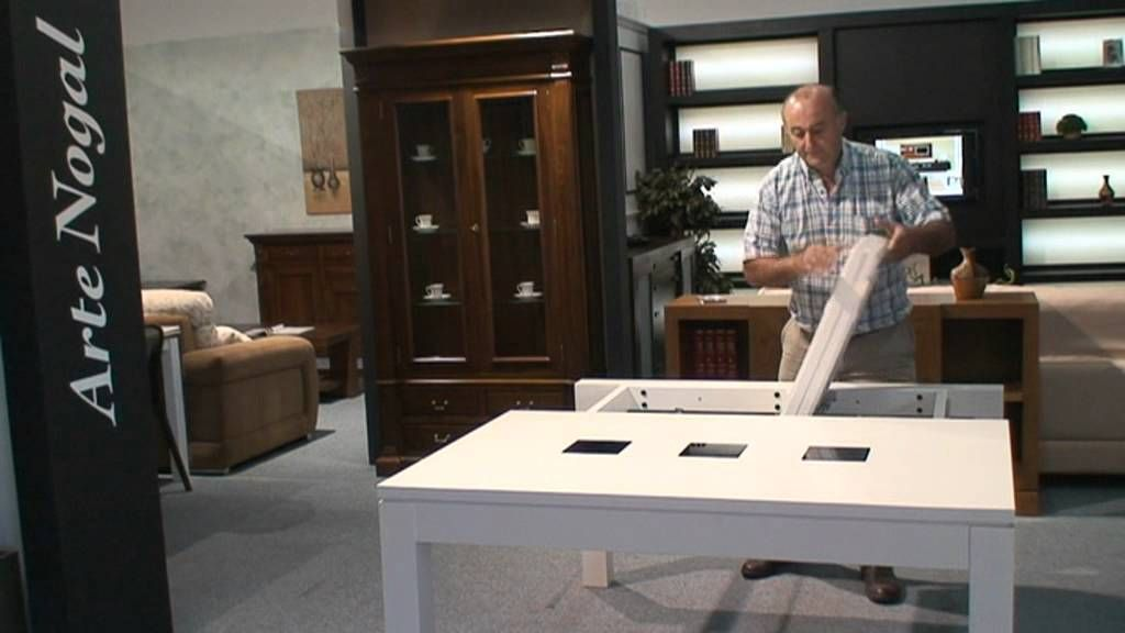 Mesa extensible mecanismo lateral nuevo mecanismo - Muebles en sonseca toledo ...