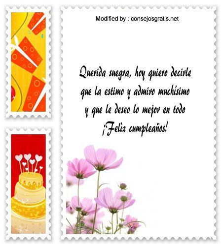textos de feliz cumpleaños,dedicatorias de cumpleaños para mi Suegra http  www consejosgratis