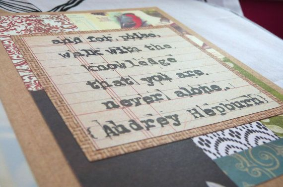 Pay It Forward Card You Are Never Alone by harmoneyestudio on Etsy, $8.00
