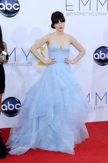 Zooey Deschanel. This dress is beautiful!