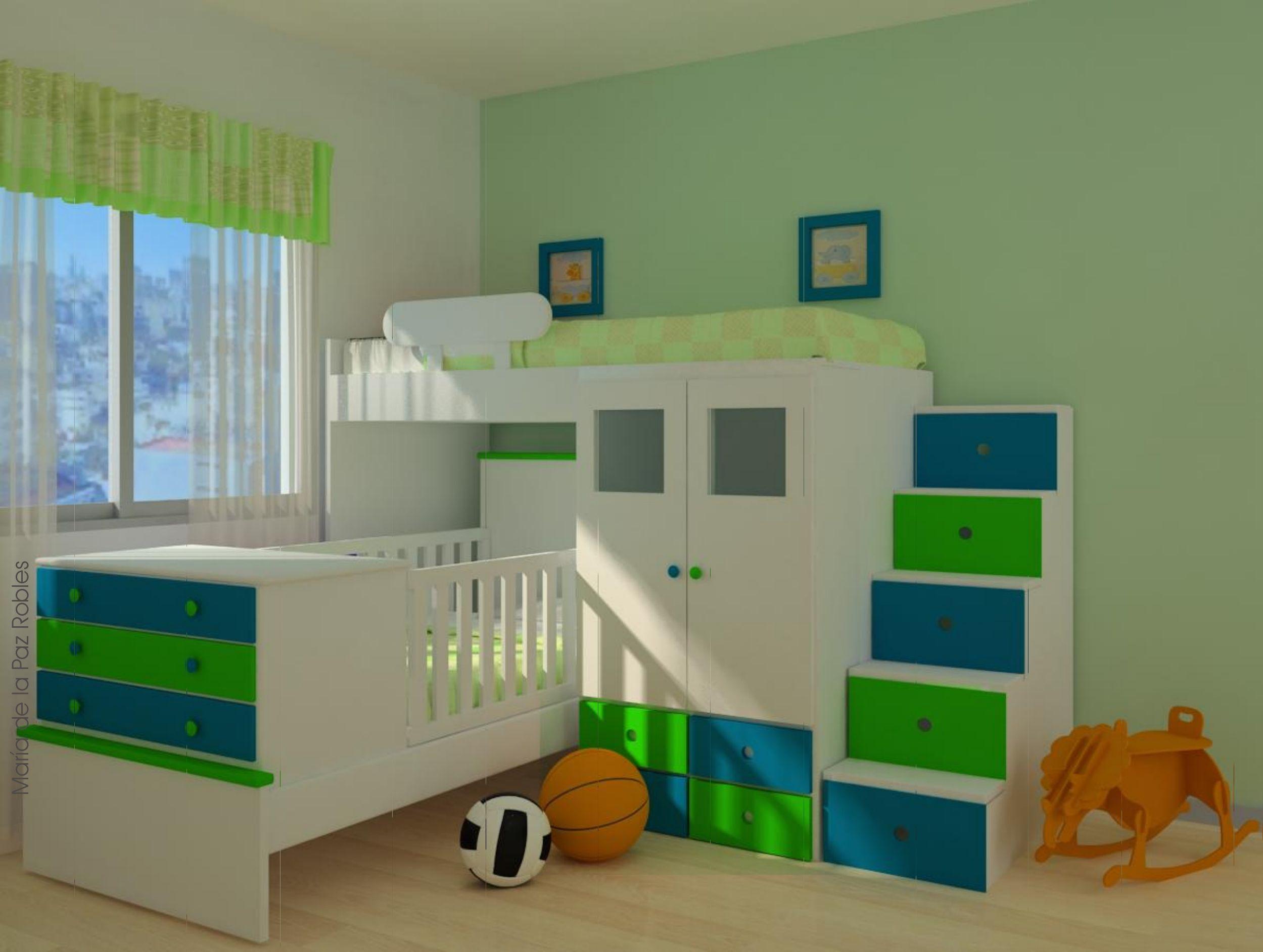Cama fantas a y cuna funcional ilusiones cama cunitas for Cama y cuna