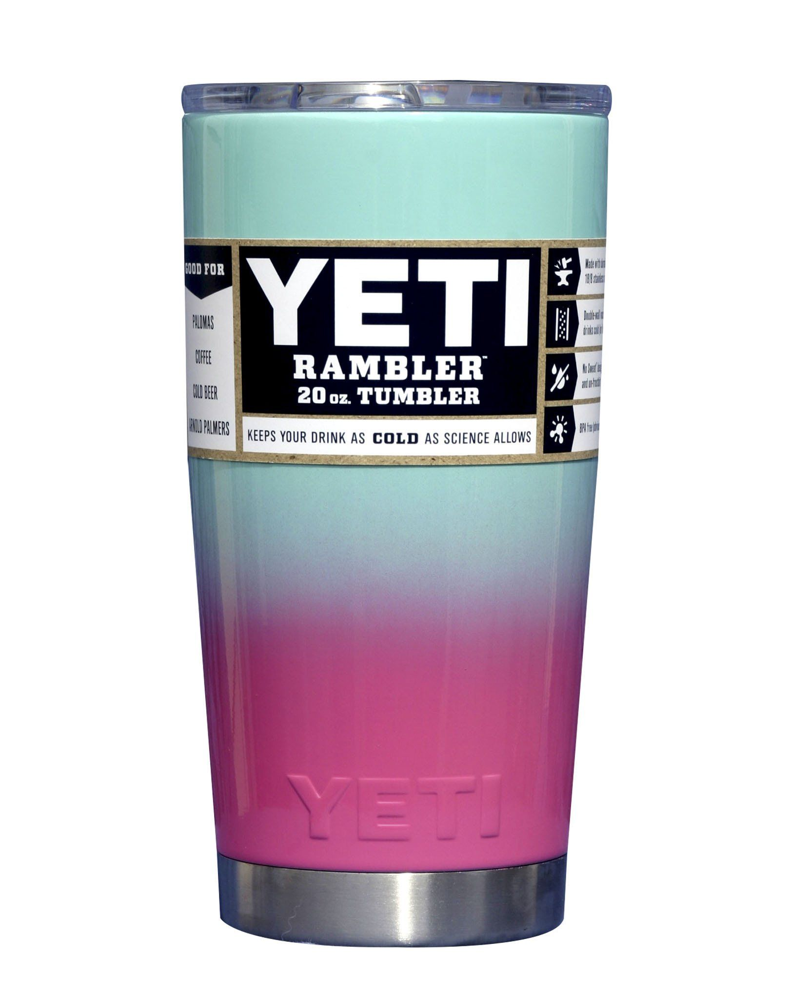 aa09bfee27d Cotton Candy Custom Powder Coated YETI 20 oz Rambler Tumbler ...