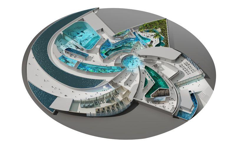 National Aquarium Denmark (The Blue Planet), Kastrup, Copenhagen, Designed  By