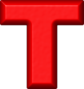 Presentation Alphabets Red Refrigerator Magnet T Red Refrigerator Magnets Alphabet