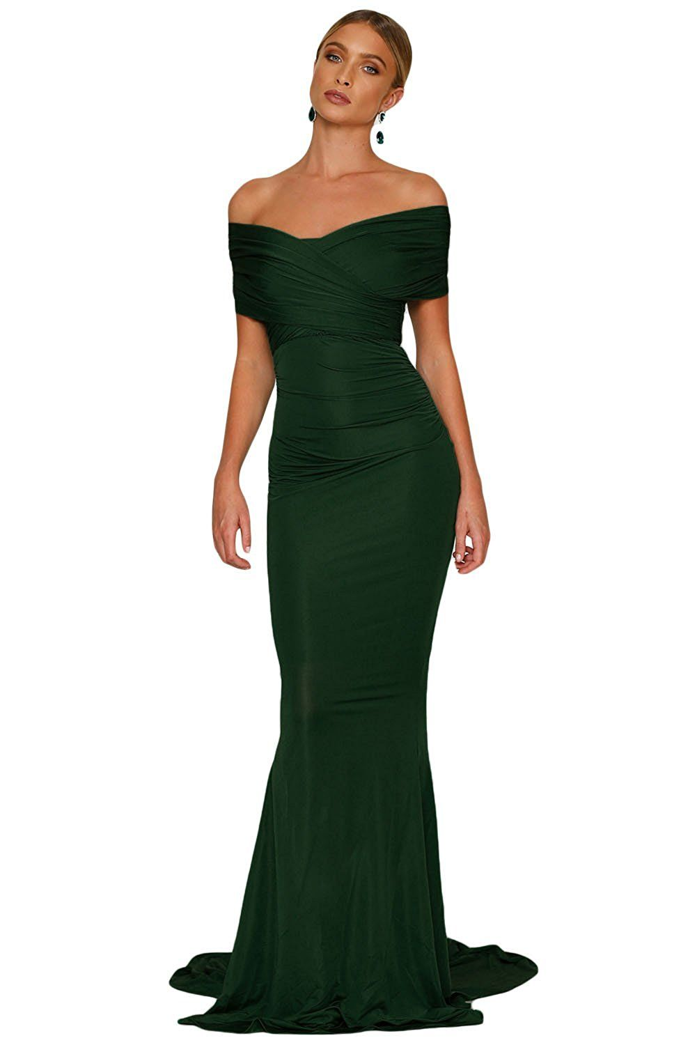 8d3c2576ff Elisan Woman Sexy Off-shoulder Mermaid Wedding Evening Party Gown  Sweetheart Long Formal Dresses at Amazon Women s Clothing store