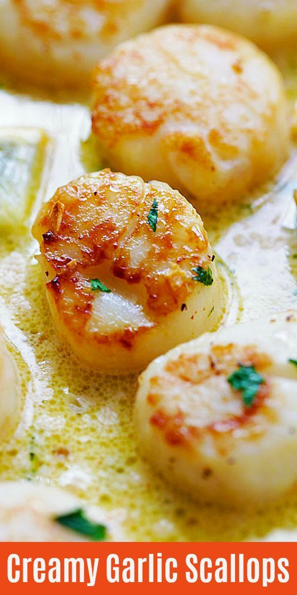 Photo of Garlic scallops in a creamy lemon butter sauce tha…